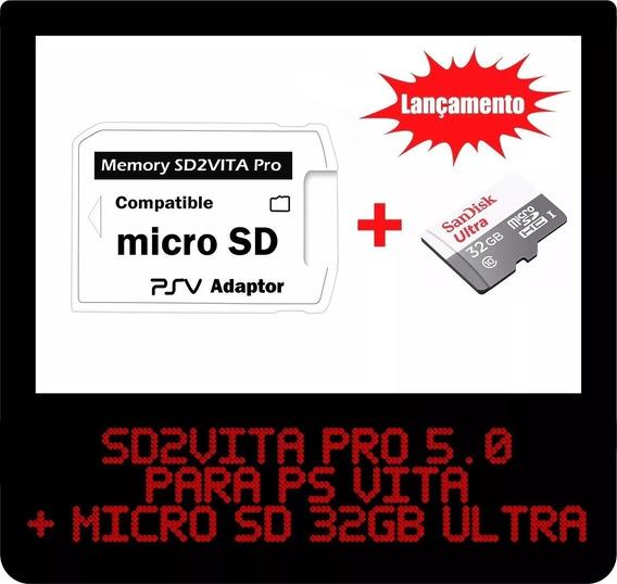 Sd2vita Pro 5.0 - Micro Sd P/ Psvita + 32gb Ultra Promoção