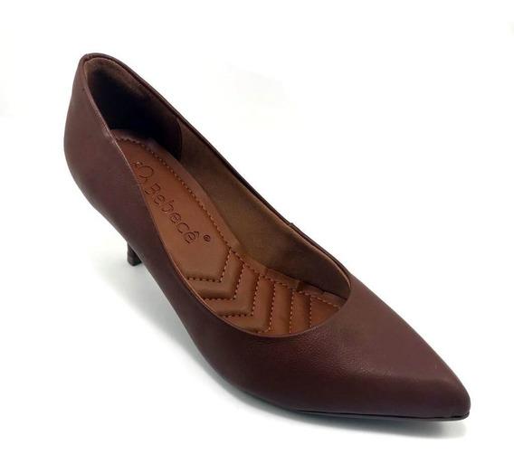 Sapato Scarpin Bebecê Bico Fino Salto Médio Napa 6816-364