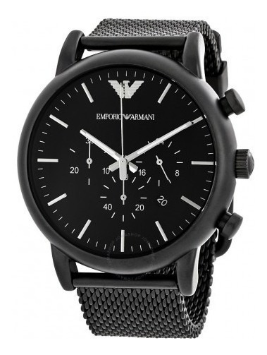 Relógio Xv1895 Emporio Armani Ar1968 Preto Analógico + Caixa