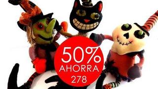 Muñecos De Halloween, Cuerpo Ajustable, Tela. Set De 3re...