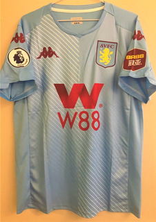 Camisa Do Aston Villa 2019/20 Premier League Completa