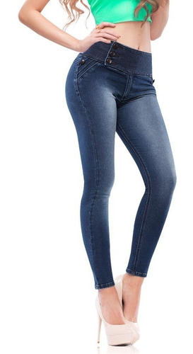 Jeans Seven Eleven Azul Marino Mujer A76ee8 Mercado Libre