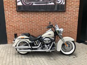 Harley Davidson Deluxe 2014 Branca Impecavel