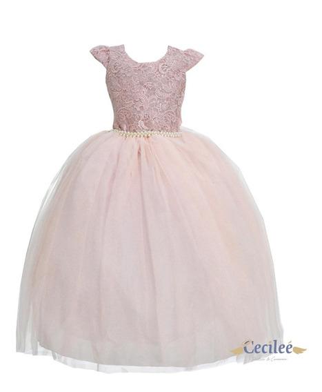 Hermoso Vestido Elegante Ceremonia Fiesta Niña Cleo T