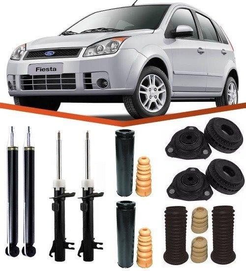 Kit Amortecedor+kit Suspensão Ford Fiesta (03 Até 13)