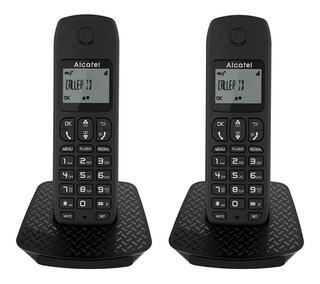 Teléfono Inalámbrico 2 Unidades Negro E132 Dúo Alcatel