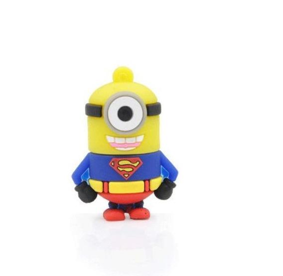 Pendrive Superman Minions Super Heróis Presente Festa Ref111