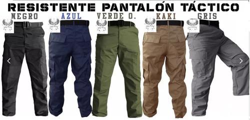 Pantalon De Bolsas Tactico Comando En Tela Gabardina Colores Mercado Libre