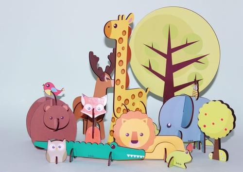 Quebra Cabeça 3d Savana   Brinquedo Educativo
