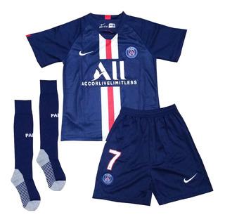 Kit Infantil Psg 2019/2020 Mbappé Neymar - Pronta Entrega