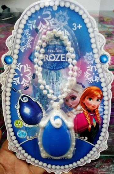 Colar Amuleto Frozen Musical Com Luz Promoção