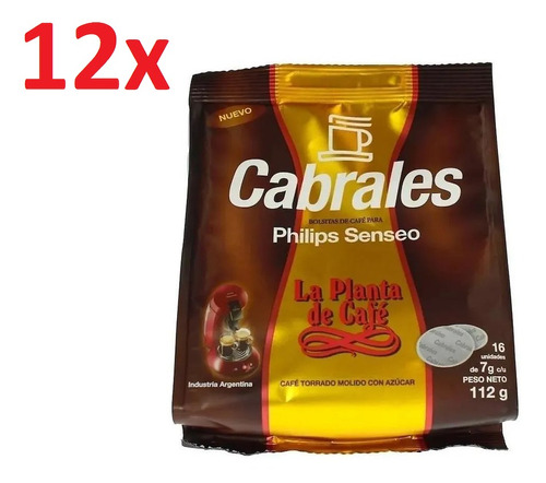 Imagen 1 de 7 de 12x Cafe Cabrales La Planta Hd1286 Philips Senseo Capsula