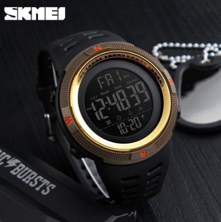 Choque Skmei Men Sports Relógios Led Digital Watch Moda Marc