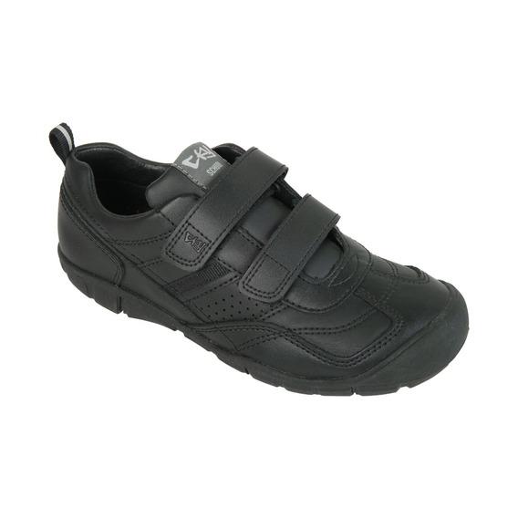 Zapato Cuero Escolar Negro Baja Boy Cky
