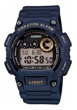 Relógio Casio Masculino W-735h-2avdf Original Com N. Fiscal