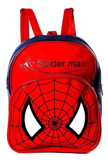 Mochila Infantil Homem Aranha De Costas Pequena Escolar