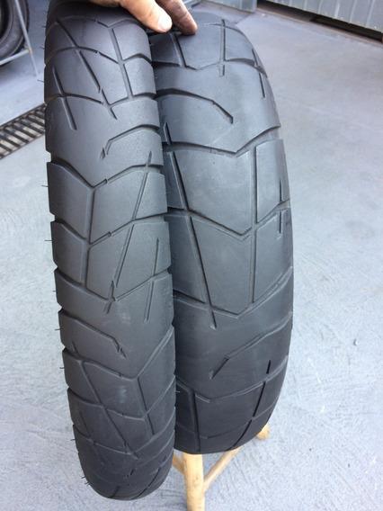 Pneus 90/90/21 E 150/70/17 Pirelli Scorpion Trail Usado Bom