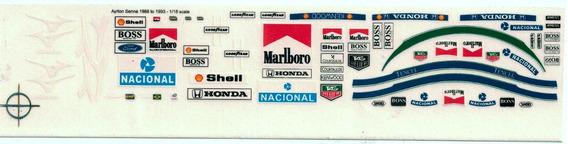 Decalque Para Figura Ayrton Senna Na Mclaren Escala 1/18