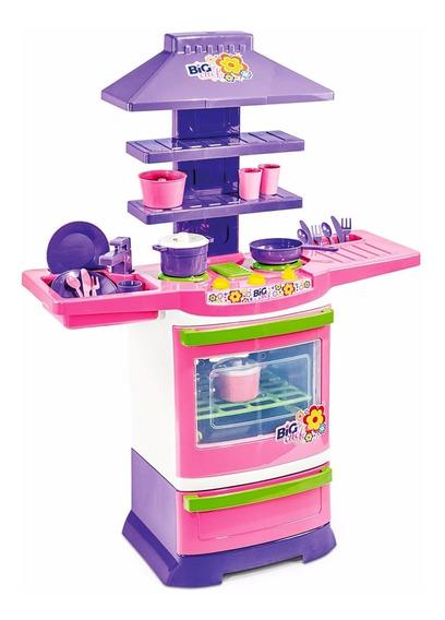 Fogão Big Chef-poliplac Brinquedo Panelinhas
