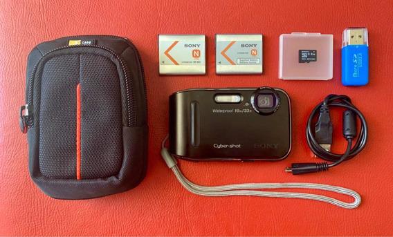 Kit Sony Tf1 À Prova Dágua (8gb, Bateria Extra, Case, Etc.)