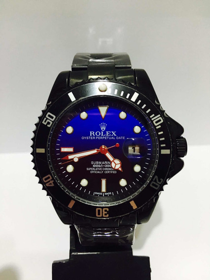 Relógio Submariner Black Blue Caixa De 45mm