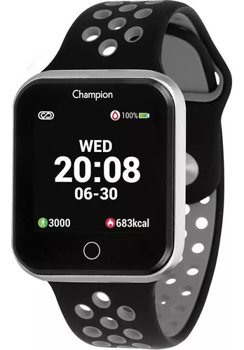 Relógio Champion Smartwatch Ch50006c Unissex Prata/preto