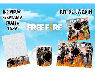 Set De Jardín Plantillas Diseños Sublimar - Free Fire