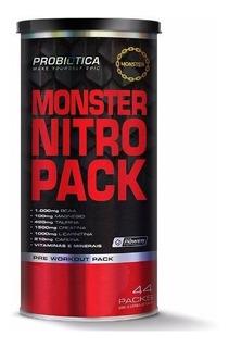 Monster Nitro Pack - Probiótica - 44 Packs - Nova Fórmula