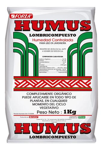 Humus De Lombriz Organico Cultivo Sustrato Fertilizante 1kg