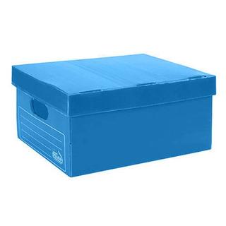 Caja Archivo Plastico Plana 400x300x195 Azul