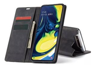 Capa Carteira Galaxy A80 A90 Magnética Caseme Couro Premium