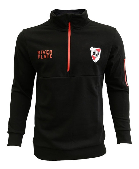 Buzo River Plate Licencia Oficial Medio Cierre 100% Algodón