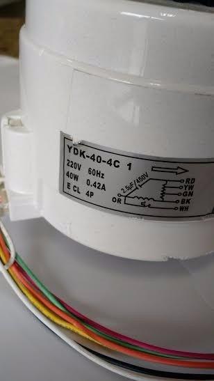 Motor Ventilador Da Evaporadora Komeco Kos 24 E 30 G2p/3lx