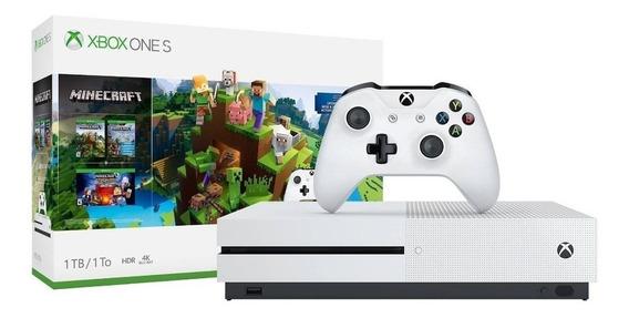 Microsoft Xbox One S 1TB Minecraft Bundle branco