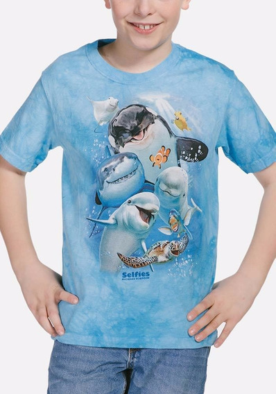 Playera 4d - Unisex Infantiles 15-4986 Ocean Selfie