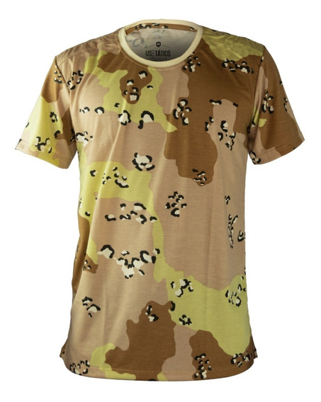 Camiseta Camuflada Estampada Caatinga Camisa Masculina Malha