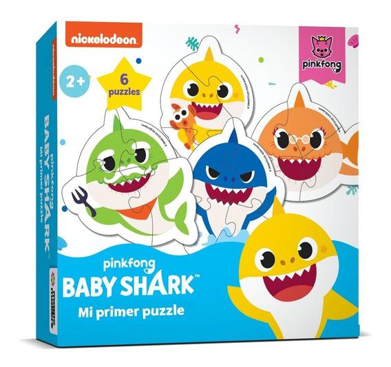Puzzle Con Forma Baby Shark - 6 Puzzles De 3 Y 4 Piezas