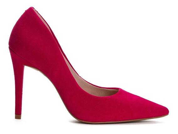 Sapato Feminino Scarpin Lasenna Fashion Nobuck Pink Roxo