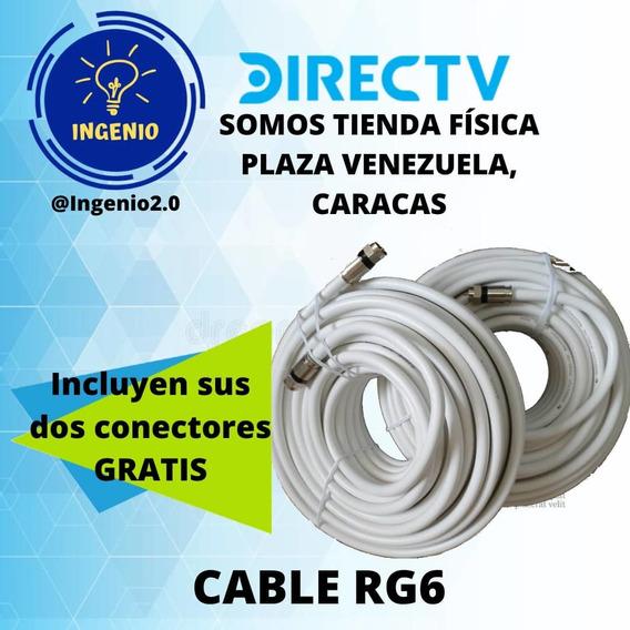 Cable Coaxial Rg6 + Conectores Gratis Tienda Física