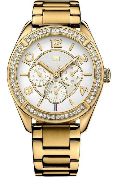 Relógio Luxo Tommy Hilfiger Th1781253 Orig Chron Anal Gold!!