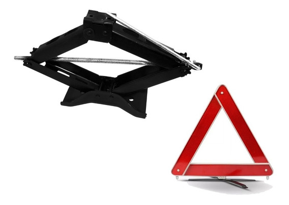 Kit Estepe Veículos Macaco Sanfona 1,2t Triangulo Segurança
