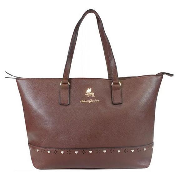 Bolsa Sacola Tote Bag Charming Rebecca Bonbon Marrom Rb2804