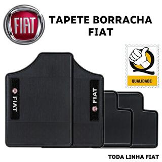 Tapete Personalizado Mobi Gsr Borracha Preto Bordado Fiat