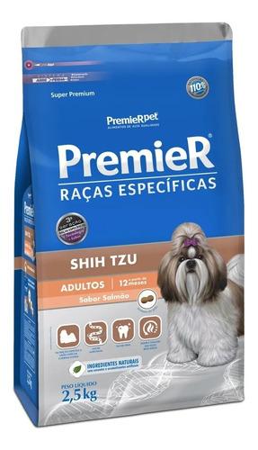 Ração Premier Cães Adultos Raça Shih Tzu Sabor Salmão 2,5kg