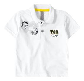Camisa Polo Tigor T. Tigre Branca Bebê Menino
