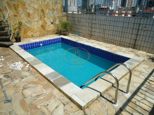 Cobertura  Com 3 Dormitório(s) Localizado(a) No Bairro Santa Maria Em Santos / Santos  - 5689