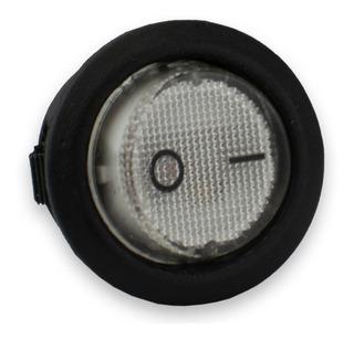 Switch Interruptor Tecla Redonda Con Luz On/off Yj-011