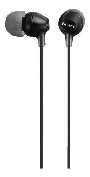 Fone de ouvido Sony MDR-EX15LP preto