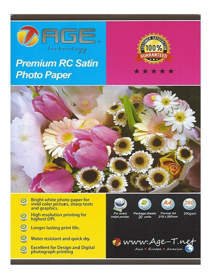 Papel Premium Rc Satin Photo Paper