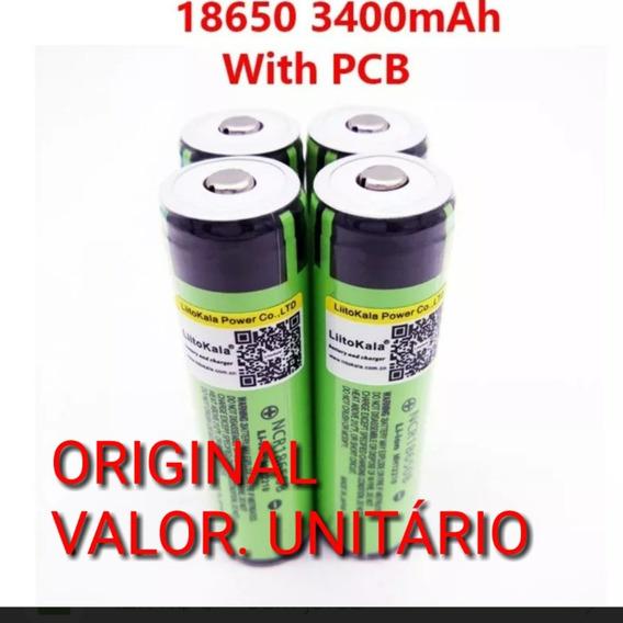 Bateri Original 18650 3400mah Recar Li-ion (valor Unitario)